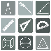 Geometry Icons — Stock Vector