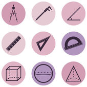 Geometry Icons — Stockvector