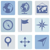 Geography icons — Stock Vector