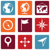 Geography icons — Vector de stock