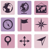 Geography Icons. — Vector de stock