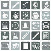 School Icons. — Stock Vector