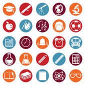 School Icons — Stock Vector