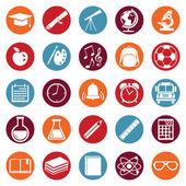 Icone di scuola — Vettoriale Stock