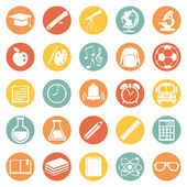 School Icons. — Stock Vector