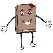 Levendige bruin boek — Stockvector