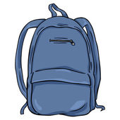 Cartoon Backpack — Stock Vector