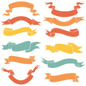 Vector Set of Ribbons for Your Text — Stock Vector