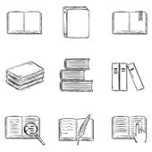 Sketch Books Icons — Stock Vector