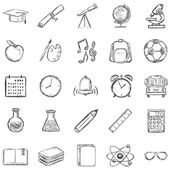 25 Sketch School Icons — Stock Vector