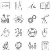 School Subjects  Icons — Stock Vector