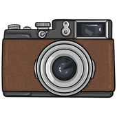 Single Cartoon Photo Camera — Stock Vector