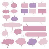 Set of Flat Comics  Bubbles. — Stock Vector