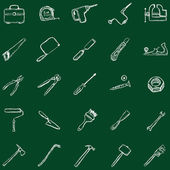 Work Tools Icons — Stok Vektör