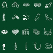 Sex Shop Icons — Stock Vector