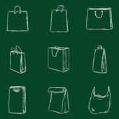 Shopping Bags Icons — Stock Vector