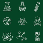 Chemistry Icons. — Stock Vector