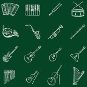 Musical Instruments Icons — Stock Vector