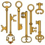 Cartoon Antique Keys. — Stock Vector #51287017