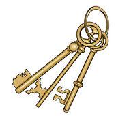 Antique Keys set — Stock Vector