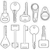 Modern Keys — Stockvektor