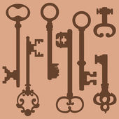 Antique Keys — Stock Vector