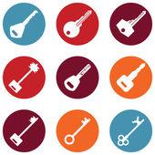 Keys Icons — Stock Vector