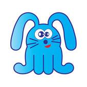 Blue bunny cartoon — Vector de stock