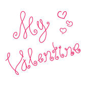 Inscription Happy Valentine's Day — Stockvektor