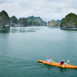 Kayaks in HLong Bay, Vietnam — Stock Photo #28821001