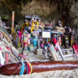 Foto Stock: Fertility shrine at Phranang Beach, Thailand