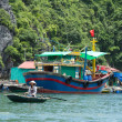 Stock Photo: Fishing boat in HLong Bay, Vietnam