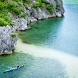 Kayaks in Ha Long Bay, Vietnam — Stock Photo