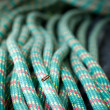Foto Stock: Rock climbing equipment, rope
