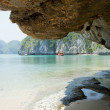 Tourist junk boat in HLong Bay, Vietnam — Stock Photo #28822733