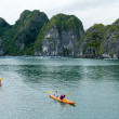 Kayaks in HLong Bay, Vietnam — Stock Photo #28823007