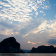 Sunset in Ha Long Bay, Vietnam — Stock Photo