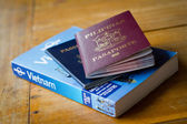 Passports and guidebook — Stock Photo