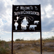 Stock Photo: Welcome to Truth or Consequences, New Mexico.