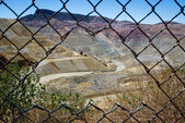 Open pit mining area in New Mexico. — Stock Photo