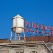 Rooftop sign on the PIllsbury A Mill in Minneapolis, MN. — Stock Photo