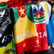 Stock Photo: Flags of East Indies nations on display.