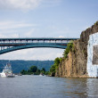 "Henry Hudson Bridge and Columbia University ""C"" graffiti, Harlem — Stock Photo #32263583"