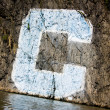 "Columbia University ""C"" graffiti on cliff side, Harlem River. — Stock Photo #32263973"