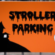 Stroller parking sign. — Stock Photo