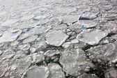 Ice floes on the Hudson River, New York. — Stock Photo