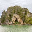 Stock Photo: Cave in karst limestone island, HLong Bay.