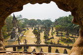 A view of the Buddha Park outside Vientiane, a quirky collection — Stock Photo