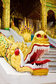 Naga at the entrance of Wat Ho Pha Bang, Laos.  — Stock Photo