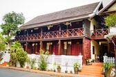 A traditional wooden building in Luang Prabang. — Stock Photo
